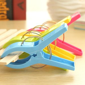 11.5 cm Large Bright Colour clothes Clip Plastic Beach Towel Pegs clothespin Clips to Sunbed Multicolor LX3873