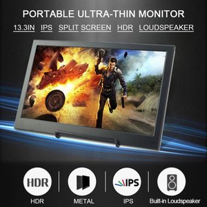 13.3 Inch Touch Screen 1080P Full HD IPS Screen Portable Monitor With HDMI Port Built-in Stereo Speakers For Phone Laptop Camera
