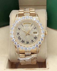 2020 Luxusuhr 43 mm Außenring Diamant großes drill mittlere Reihe Schale mittlere Reihe Bandfläche Uhr automatische mechanische Uhr Band di eingelegten
