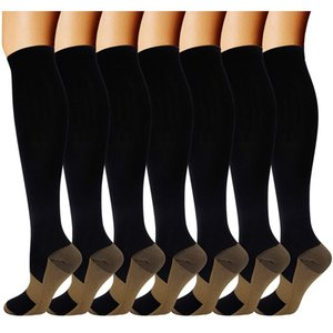 3 Pairs Compression Socks for Women Thigh High Sock Soft Knee Long Stockings Varicose Vein Leg Relief Pain Knee Socks Pressure 201012