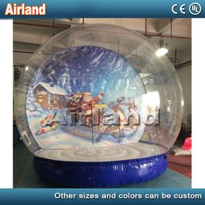 2020 neue Entwurfs-Inflatable Schnee-Kugel für Weihnachten 2M / 3M / 4M Dia Aufblasbares Mensch Schnee-Kugel für Leute Go Innen Weihnachten Yard Schneekugeln
