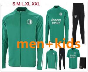 2020 Feyenoord Tracksuitr Мужчины + Детский футбольный куртка Учебный костюм 2020 2021 Feyenoord Full Zippe Куртка с коротким рукавом Футбольный тренер бега
