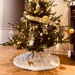 78/90 / 122см Рождественская елка юбка Base белый ковер плюша Напольный коврик Обложка Xmas украшение партии