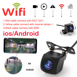 Mini Reversing Camera Wifi Rear-view Camera Wide Angle Starlight Night Vision Car Avoid Blind Area Safe Travel Car Kit Accessories