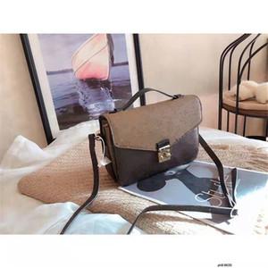 New Ms Single Girls Mulheres Ombro Messenger Bags Bag Portátil Relaxamento Inclinated Ombro Impressão de couro genuíno bolsas de couro marrom bolsa marrom