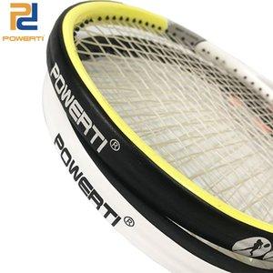 POWERTI Tennis Rahmen schützen PU-Übergreifende Viskosität-Aufkleber Tennisschläger-Band Reduzieren Sie die Reibung 5M schwarz und weiß 201116