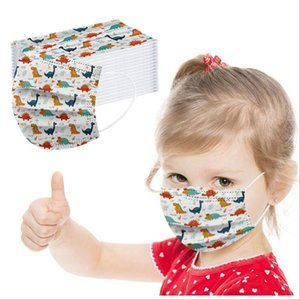 Kids Face Mask Cartoon Printed Disposable Face Mask Mouth Cover Cute Carton Printing Personality Festival Designer Masks FWC3542