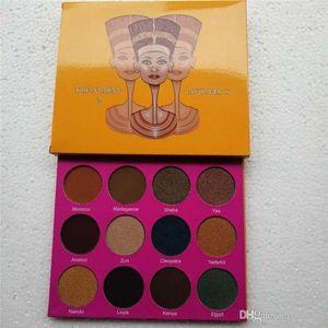 Juvia'smakeup Juvia палитры в том же стиле магия Nubian Eyeshadow Palette Клеопатра тени для век Мерцающие Pearl Swatches Бесплатная доставка
