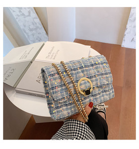 HBP SHOPPING HBP New 2021 new trendy woolen messenger wild ins female bag shoulder bag chain small square bag
