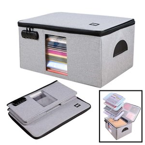 Files Bag Briefcase Document Certificates Organizer Multilayer Large Capacity Travel Document Storage Bag Box Home Office Use 200929