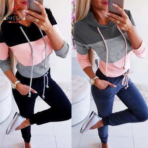 Women Hoodies amp; Sweatshirts for Streetwear Color Matching Design O Neck Long Sleeve Casual Top Ladies Autumn Winter Pullovers