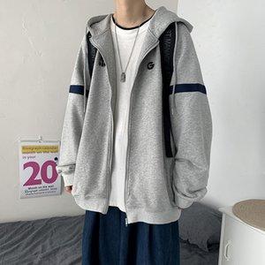 Autumn Cardigan Pullover Herren Koreanische Ruffian Hübsche Sport Mit Kapuze Top Mode Marke Vielseitige Beiläufige Mantel