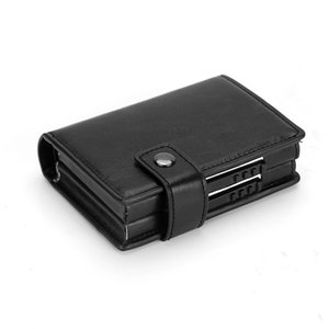 Dual Card Aluminum Alloy Card Box Wallet Anti-theft Swipe Card Holder Credit Wallet