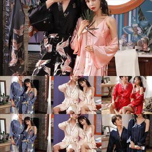 CNX Lady Velvet Velvet Haute Quality Silk Fleur Chaud Glace Silk Robes Solid Dentelle Patchwork Kimono Amoureux de Kimono Peignoir Girl Girl Gelt Peignrobe
