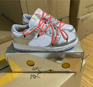 Futura x Dunk Sb Low OFF Casual Shoes Women Mens Designer Green silver orange Dunks des Chaussures Taquets Sneakers