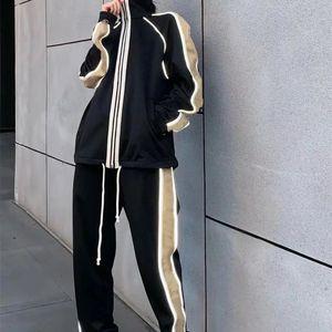 2020 Nwe мужские костюм Роскошные женские костюмы Мужские Sweatsuits Повседневный костюм с длинным рукавом Карманный Бегущий человек случайный одежда мужчин костюмы