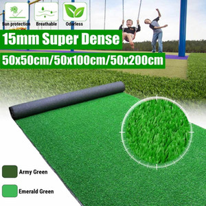 15mm Super Dense Artificial Turf Grass Mat Fake Synthetic Landscape Golf Lawn Home Garden Yard For Wedding Party Decoration