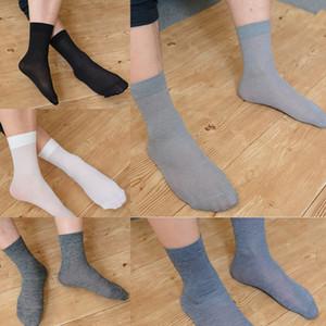 meias de negócios de algodão mercerizado médio fina Mercerized meias meias de algodão de seda tubo de homens primavera e verão placa reta pé de morcego