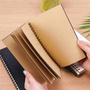 Kraft Cover Notebooks Spiral Journals Planner Notepads with Blank Paper Brown Copybook Diary For Travelers Drawing Painting
