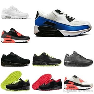 New classic 90 Men women casual Shoes 90s Black Red White Sports Trainers Cushion Breathable Sports Shoes 36-45
