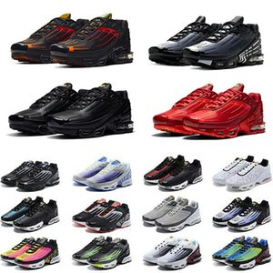 max tn plus 3 III hombre zapatillas de running Obsidian tn3 triple blanco negro hyper og usa neon Crimson Red Michigan de deporte para hombre zapatillas deportivas