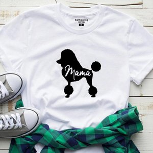 Dog Mom Shirt Poodle Gifts For Dog Owner Mothers Day T Shirt Pet Lover Tops Lover Mommy Clothes Animal Ladies