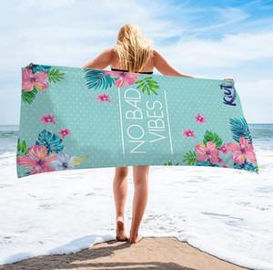 Serviette de plage océan Imprimé Microfibre plage Couvertures Tassel piscine serviette épaisse pique-nique Tapis tapis de yoga Lettre Baseball 9 Designs OWA1023