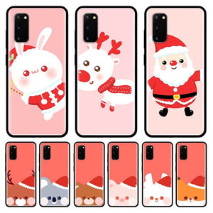 Christmas Cartoon Case For Samsung Galaxy S10 S20 Ultra S9 S8 Plus S7 Note 20 9 10 Lite Cubre Black Tpu Mobile Phone Coque Bag