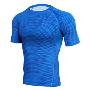 Compression Shirts Men 3d Printed T Shirts Short Sleeve Fitness Base Layer Tights Mens Fitness Tops Mma Rashguard Brand Tees jllxcA