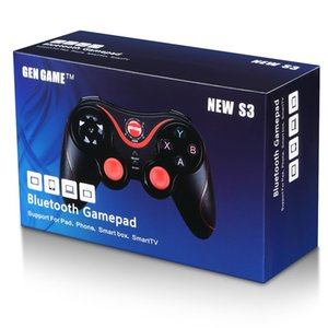 New S3 Wireless Bluetooth Gamepads Joystick Gaming Controller Remote Control BT 3.0 for Mobile Phone Tablet PC Holder Included
