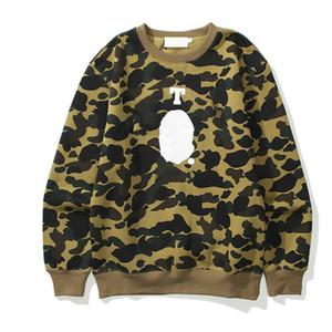 20FW Мужчины Женщины моды Толстовки 2020 Модный камуфляж Письмо Printed Толстовки мужские Hip Hop Стиль Streetwear Мода Пуловер с длинным рукавом
