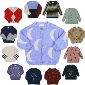 Crianças suéteres outono inverno strafina meninos meninas de malha top cardigan camisola bebê lã outerwear crianças camisola y200901