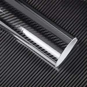 1 PC 50 * 200CM الأسود 5D الكربون ملصق الألياف فيلم الفينيل سيارة التفاف السينمائي 5D لفة السيارات رياضة السيارات الخارجي ملحقات السينمائي
