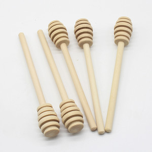 Mango largo Honey Stick Wood Coffee Leche Multi Función Varilla de agitación 3 tamaños Ranura de cola Mini Mini Vajilla de madera Cuchara Cocina Nuevo 0 5Jx3 M2