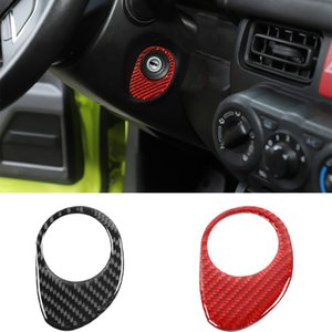 Carbon Fiber Car Key Hole Ignition Switch Decoration Sticker For Suzuki Jimny 2019 UP Interior Accessories