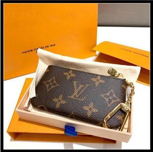키 파우치 M62650 Pochette Cles 디자이너 패션 Womens Mens 열쇠 고리 신용 카드 홀더 코인 지갑 럭셔리 미니 지갑 가방 매력 갈색 캔버스