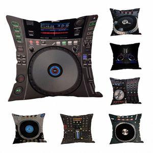 Cojín DJ Music Throw 18 pulgadas de almohada cubierta de asiento de coche cojín del sofá almohada Caso Lanza Cojines Decorativos Para Sof al aire libre C # issk