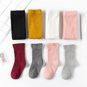 New Children Knit Leggings + Solid Socks Autumn Winter Kids Knitting Cotton Dance Tights Girls Casual Students Socks 2pcs Sets S806