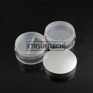 50ml AS Empty Loose Powder Makeup Jar Container Travel Sifter Box Cosmetic Refillable Pot Case with Silver lidsgood qualtitygoo