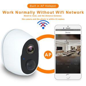 Fotocamera wireless La fotocamera ricaricabile per la sicurezza della macchina fotografica per la sicurezza della batteria esterna wireless wireless 1080P Camcoruttori dei consumatori Videocamere