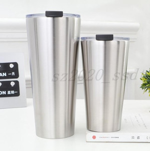 The latest 30OZ and 16OZ stainless steel straight cup double-layer vacuum insulation coffee cup, free shipping, support custom logo