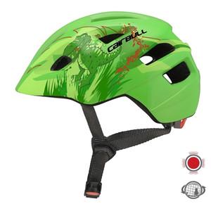 Los niños que viajan Casco de Ciclista con Luz trasera Niños Niñas patinaje monopatín casco de bicicleta de equilibrio Niños de bicicletas Casco de T200730