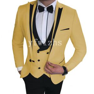 Handsome One Button Groomsmen Peak Lapel Groom Tuxedos Mens Wedding Dress Man Jacket Blazer Prom Dinner suits (Jacket+Pants+Tie+Vest) W508