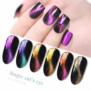 Chameleon кошачий глаз гель для ногтей Magnet Звездное небо лак UV LED для 5D фототерапии клей Цвет изменяющие Различные стили Золото en2e #
