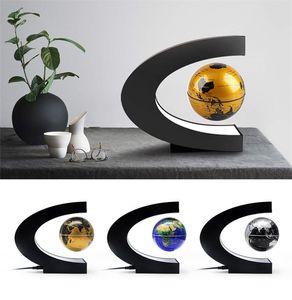 2020 lâmpada novidade flutuante Magnetic Levitation Globe Lâmpada Luz Mapa do Mundo Bola de Iluminação Home Office Decoração globo terrestre