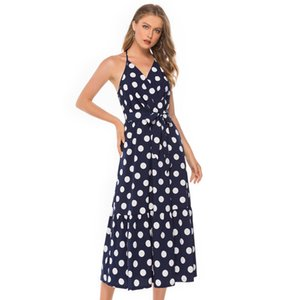 womens designer wave point skirt sleeveless sexy dress