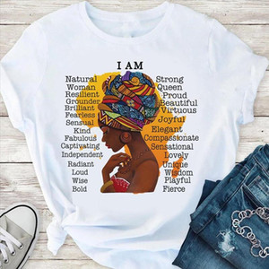 Black queen i am t shirt women lovely graphic tees 90s melanin girl magic aesthetic clothes dope black lives matter funny tshirt