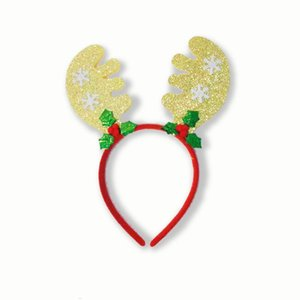 Christmas Gifts Red Green Antlers Kids Headband Christmas Decorations For Home Merry Christmas Decor 2021 New Year Natal Kerst jllPOT