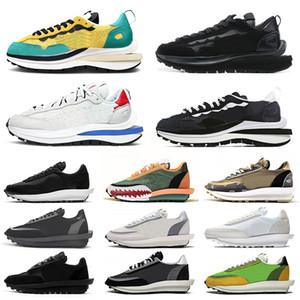 nike sacai ldv extérieur ldv gaufre vaporwaffle daybreak chaussures de course hommes femmes triple noir blanc nylon pin vert hommes formateurs baskets de sport