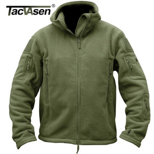 TACVASEN Winter Airsoft Military Jacket Men Fleece Tactical Jacket Thermal Hooded Jacket Coat Autumn Outerwear Mens Clothing 3XL 201112